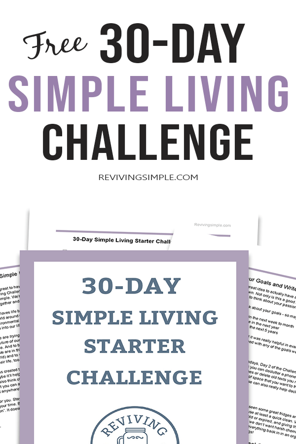 Free 30-day simple living challenge